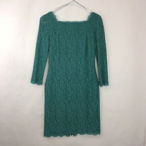 All Over Lace Exposed Zipper Cocktail Dress